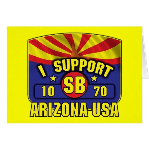 Apoyo SB1070 - Arizona los E.E.U.U. Tarjeta