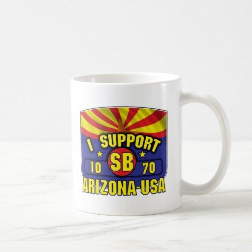 Apoyo SB1070 - Arizona los E.E.U.U. Taza De Café