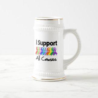 Apoyo todas las causas taza