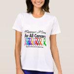Apoyo una curación para todos los cánceres camiseta