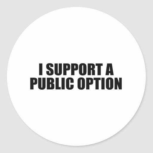 Apoyo una opción pública etiquetas redondas