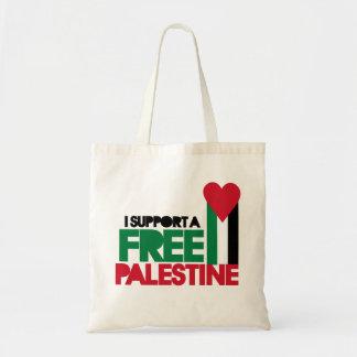 Apoyo una Palestina libre Bolsa Tela Barata