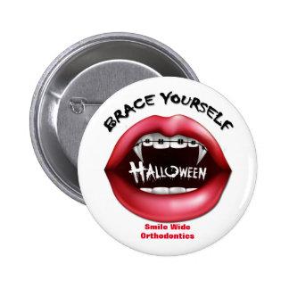 Apoyo usted mismo - Halloween Pin Redondo De 2 Pulgadas