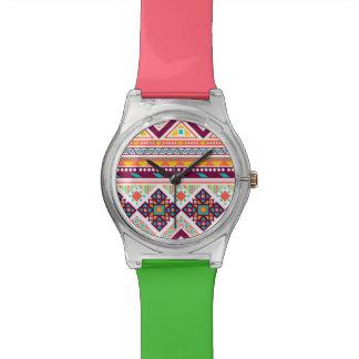 Apoyo valeroso del wow vivaz relojes de pulsera