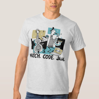 App-o-Mat: Watch. Code. Jam. Shirt