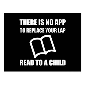 App Replace Lap Read To Child Postcard