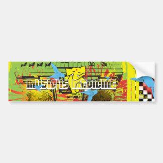 APPA :: MUSIC IS MEDICINE (( DEUX )) CAR BUMPER STICKER