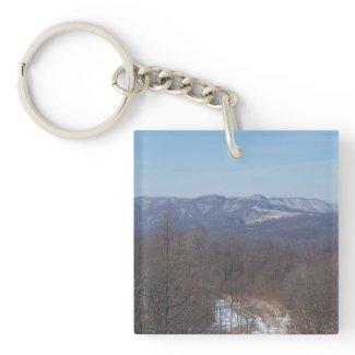 Appalachia Single-Sided Square Acrylic Keychain