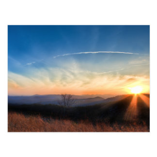 Appalachian and Blue Ridge Mountains Sunset Postcard
