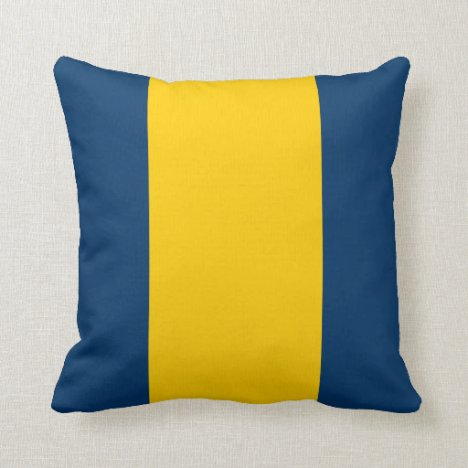 Appalachian Blue and Gold Throw Pillow