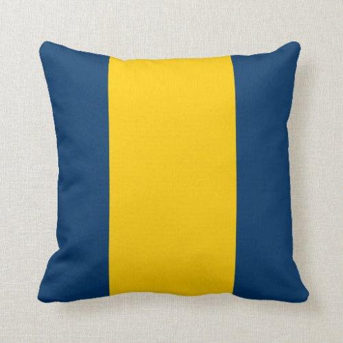 Appalachian Blue and Gold Throw Pillow
