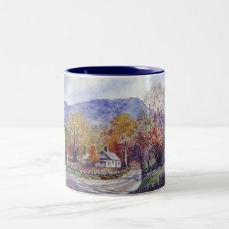 Appalachian Blue Hills-mug Two-Tone Coffee Mug