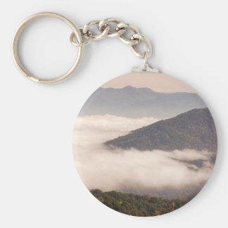 Appalachian Fog Basic Round Button Keychain
