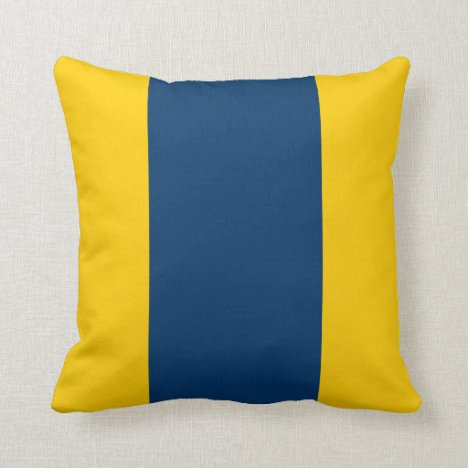 Appalachian Gold and Blue Throw Pillow