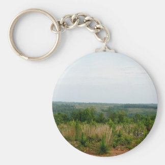 Appalachian Mountain Foothills Basic Round Button Keychain