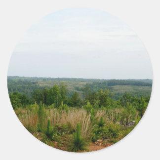 Appalachian Mountain Foothills Classic Round Sticker