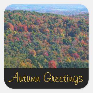 Appalachian Mountains Autumn Greetings Stickers