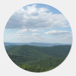Appalachian Mountains I Shenandoah Classic Round Sticker