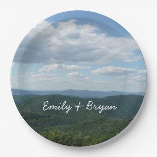 Appalachian Mountains I Shenandoah Personalized Paper Plate