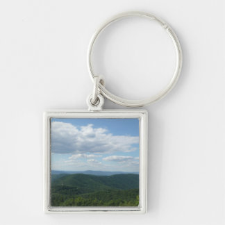 Appalachian Mountains I Shenandoah Silver-Colored Square Keychain