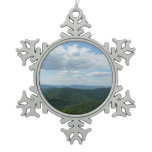 Appalachian Mountains I Shenandoah Snowflake Pewter Christmas Ornament