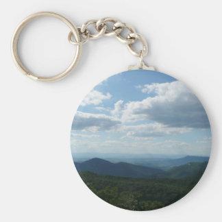 Appalachian Mountains II Shenandoah National Park Basic Round Button Keychain