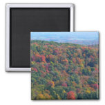 Appalachian Mountains in Fall Nature Photography 2 Inch Square Magnet