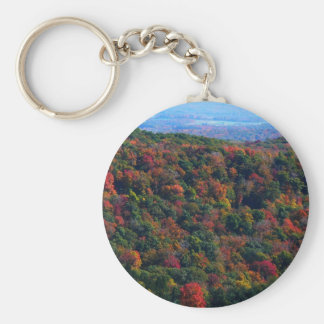 Appalachian Mountains in Fall Nature Photography Basic Round Button Keychain