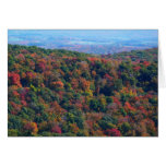 Appalachian Mountains in Fall Nature Photography Card