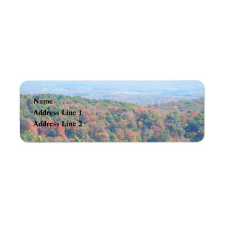 Appalachian Mountains in Fall Nature Photography Label