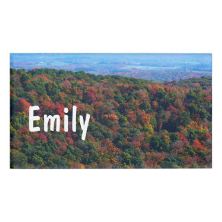 Appalachian Mountains in Fall Nature Photography Name Tag