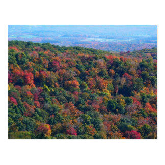 Appalachian Mountains in Fall Nature Photography Postcard