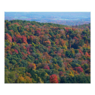 Appalachian Mountains in Fall Nature Photography Poster