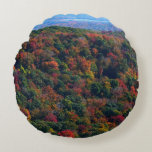 Appalachian Mountains in Fall Nature Photography Round Pillow