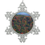 Appalachian Mountains in Fall Nature Photography Snowflake Pewter Christmas Ornament