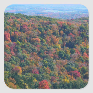 Appalachian Mountains in Fall Nature Photography Square Sticker