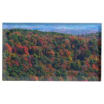 Appalachian Mountains in Fall Nature Photography Table Card Holder