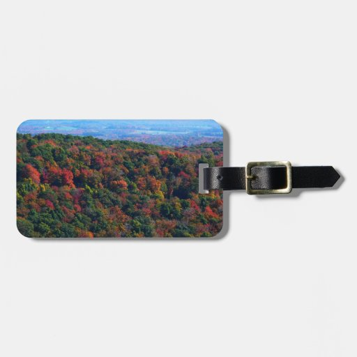 Appalachian Mountains in Fall Nature Photography Tag For Luggage