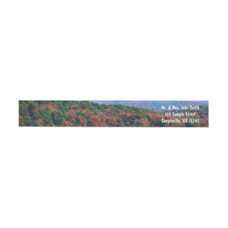 Appalachian Mountains in Fall Nature Photography Wrap Around Label
