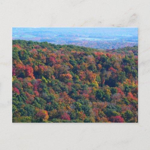 Appalachian Mountains in Fall Postcard postcard