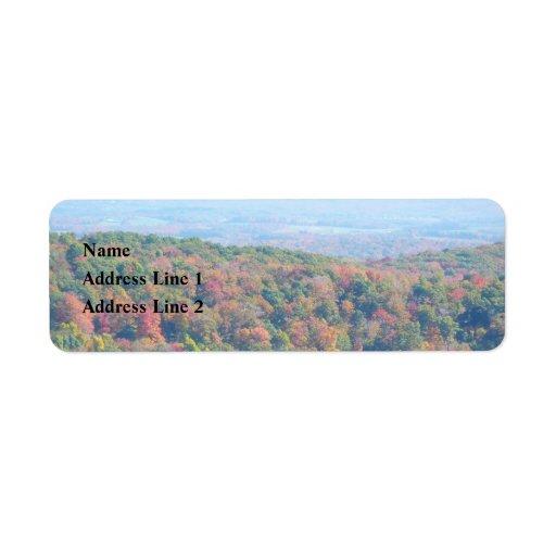 Appalachian Mountains in Fall Return Address Label