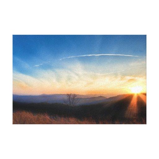Appalachian Mountains Sunset near Blowing Rock Canvas Prints