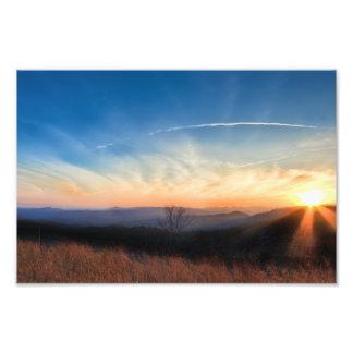 Appalachian Mountains Sunset Photographic Print