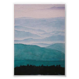 appalachian ridges poster