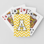"""Appalachian State University Chevron Pattern Playing Cards<br><div class=""""desc"""">Check out these new Appalachian State University designs! Show off your ASU Mountaineer pride with these new Appalachian State products. These make perfect gifts for the Mountaineers student, alumni, family, friend or fan in your life. All of these Zazzle products are customizable with your name, class year, or club. Go...</div>"""