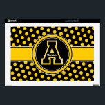 """Appalachian State University Polka Dot Pattern 17&quot; Laptop Decal<br><div class=""""desc"""">Check out these new Appalachian State University designs! Show off your ASU Mountaineer pride with these new Appalachian State products. These make perfect gifts for the Mountaineers student, alumni, family, friend or fan in your life. All of these Zazzle products are customizable with your name, class year, or club. Go...</div>"""