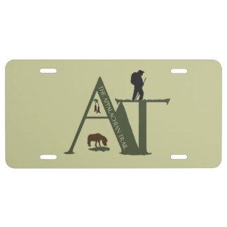Appalachian Trail AT Hiker License Plate