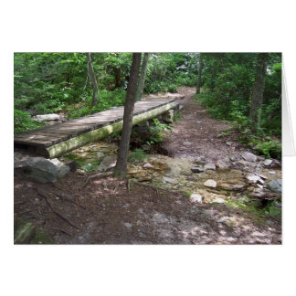 Appalachian trail bridge greeting card
