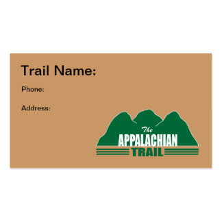 Appalachian Trail Business Cards