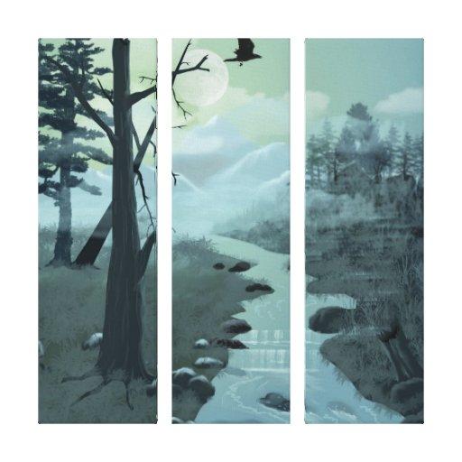 Appalachian Trail Creek Wrapped Canvas Canvas Print